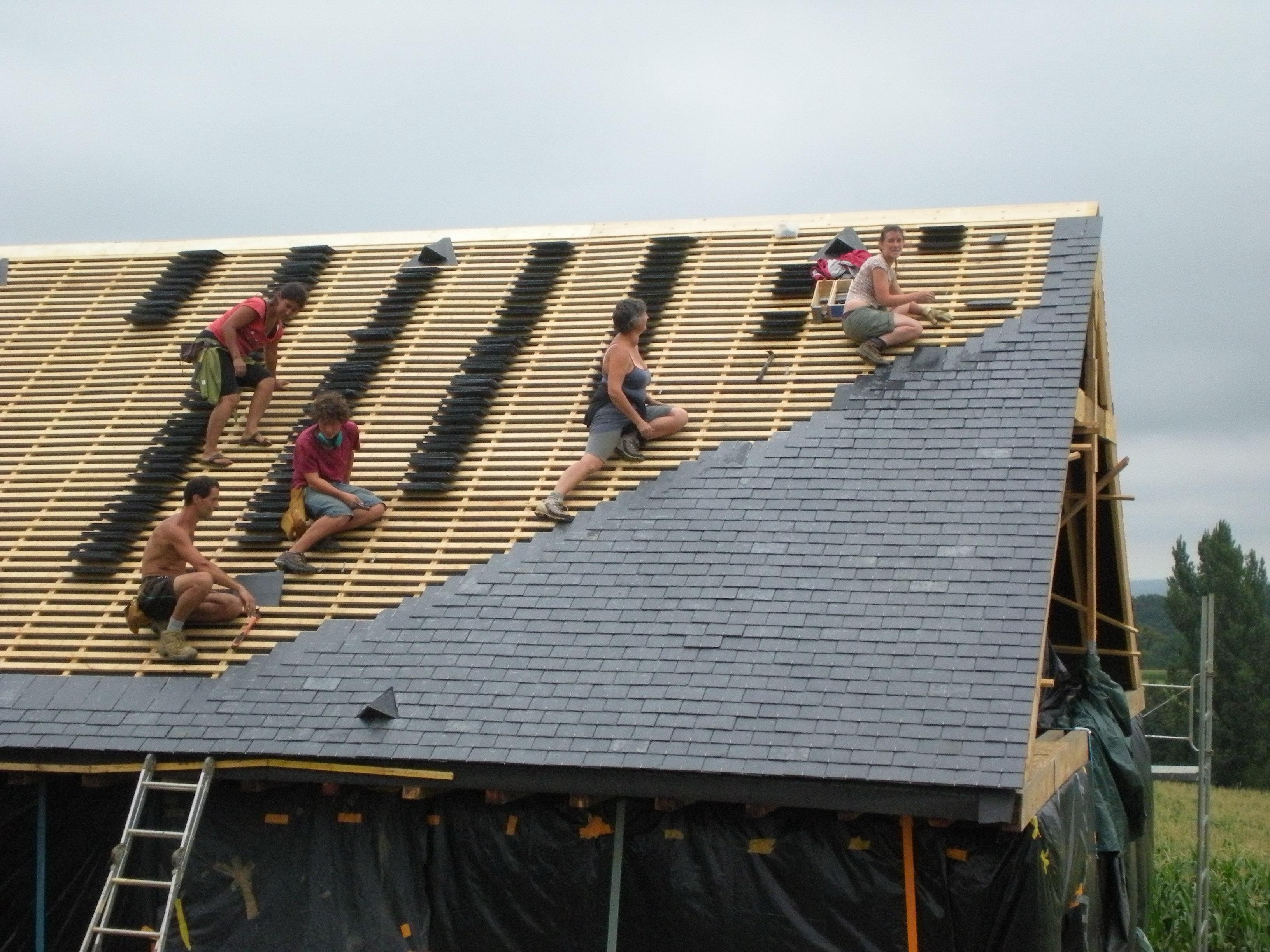 Couverture maison paille porteuse nebraska 2009 2019 olea - Pose d ardoises sur un toit ...